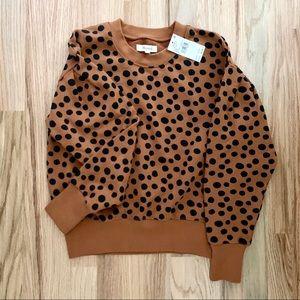 Madewell Pleat-Sleeve Sweatshirt | NWT